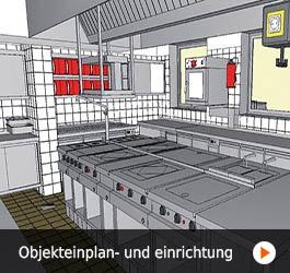 Objektplanung und Einrichtung von Küchen